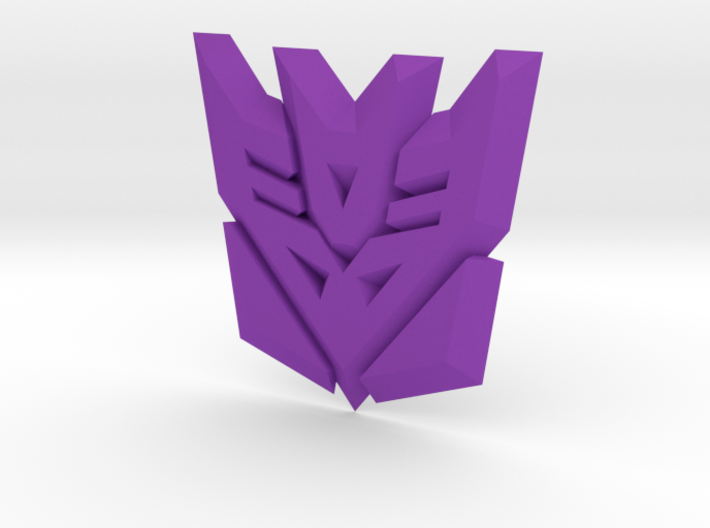 Decepticon Logo Supports 3d printed