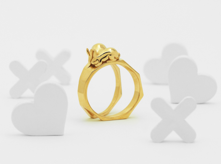 Together Apart Ring 3d printed