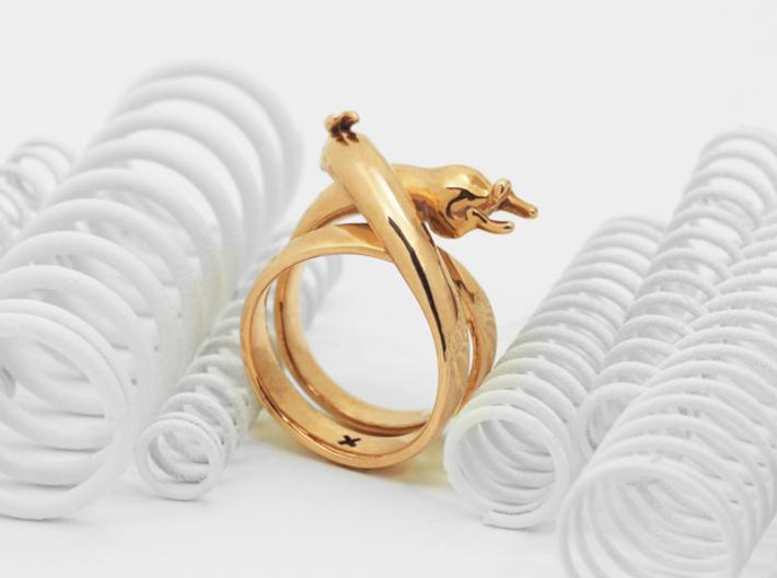 Stretch Rabbit Ring 3d printed