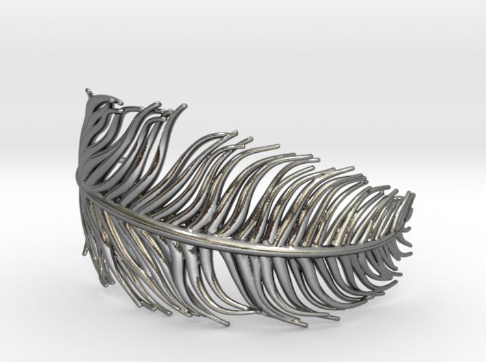 Singular penna - feather bracelet 3d printed