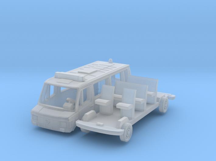 Mercedes-Benz 208 Einsatzfahrzeug (N 1:160) 3d printed