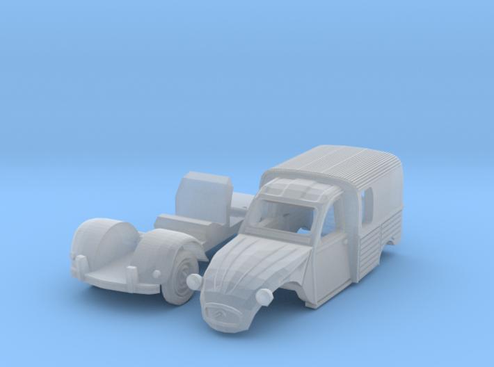 Citroën 250 (N 1:160) 3d printed