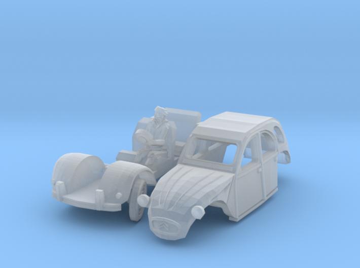 Citroën 2CV - cornering (N 1:160) 3d printed