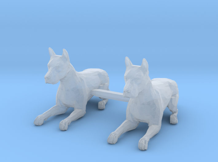 Dogs Lying Down 3d printed