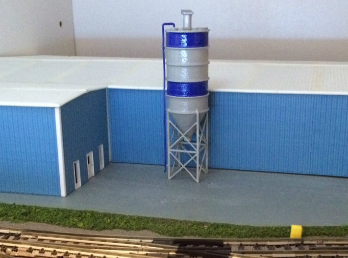 N Scale Cement Silo WSF 3d printed