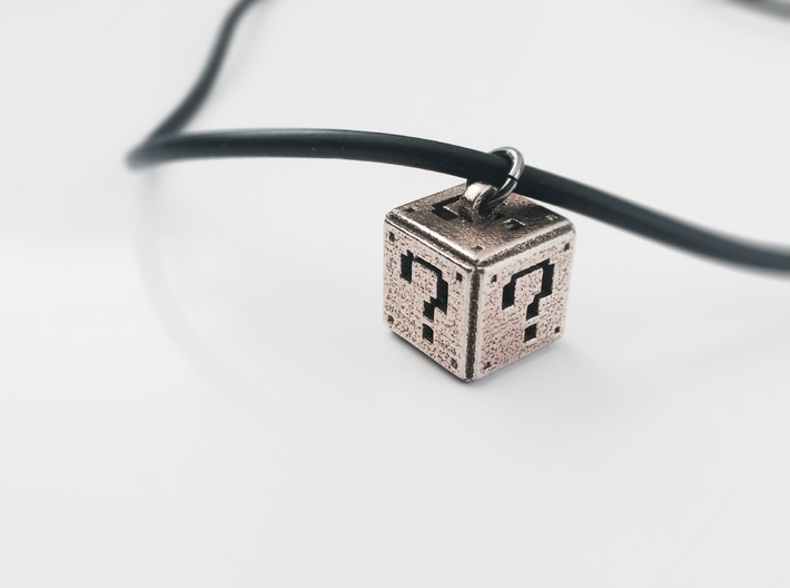 Super Mario Question Box Pendant 3d printed