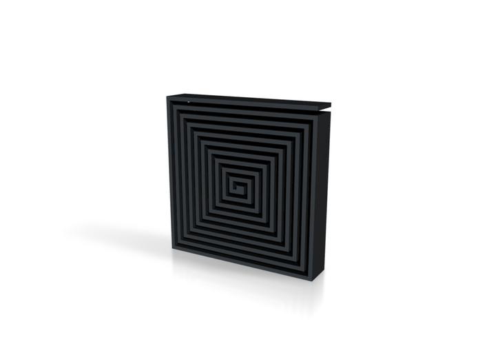 black maze coaster 3d printed