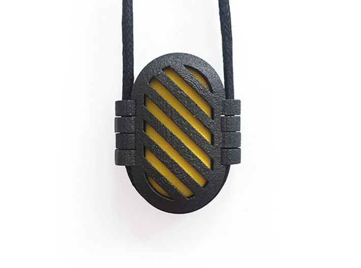 KPS Outer Piece - Stripes 3d printed A complete Kapsul pendant.