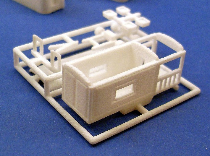 """""""Wahrsagerwagen"""" - 1:220 (Z scale) 3d printed (SLS material)"""