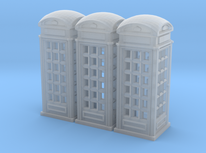 SET 3x Telephone box K2 (N 1:160) 3d printed