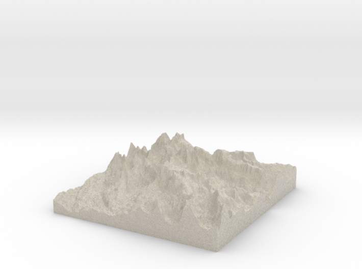 Model of Fremont Glaciers 3d printed