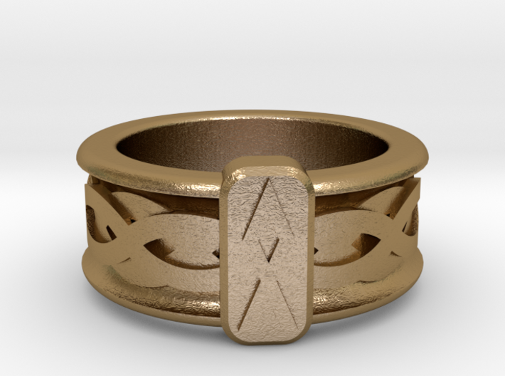 Norse Othala Ring 3d printed