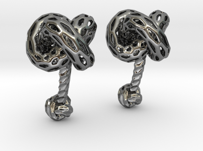 Big DRAGON, Cufflinks. Pure, Bold, Strong.  3d printed