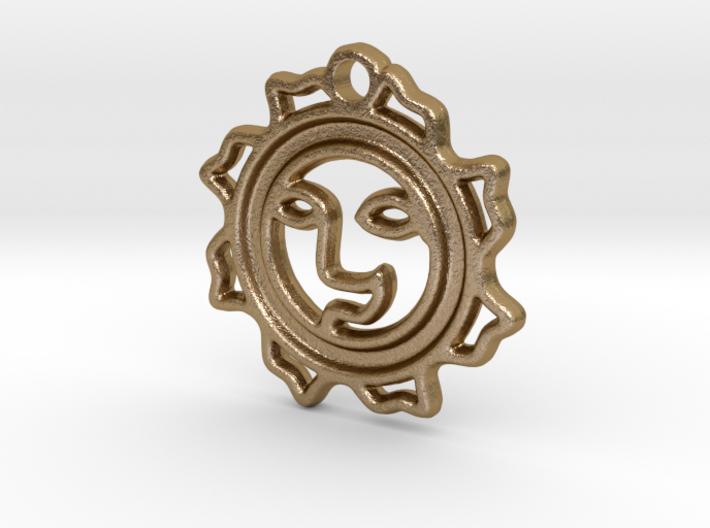 Happy Sun Pendant - (3 cm) 3d printed