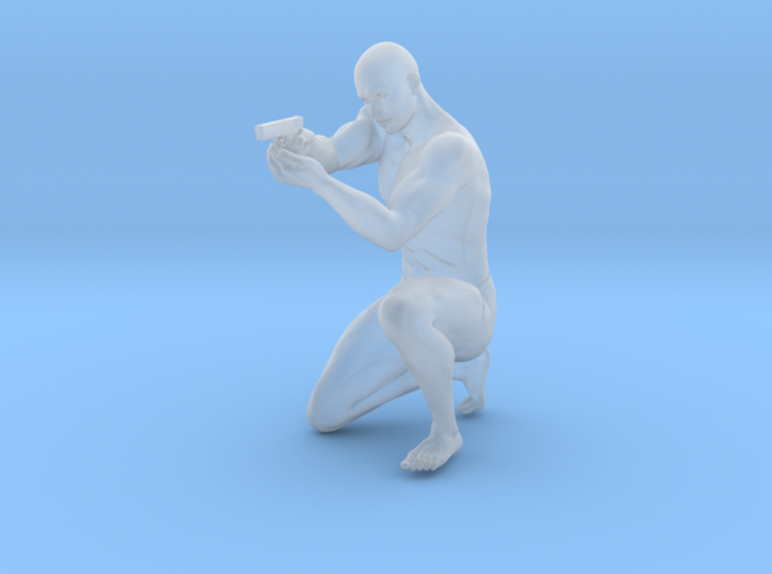 1:24 Male soldier 012 3d printed