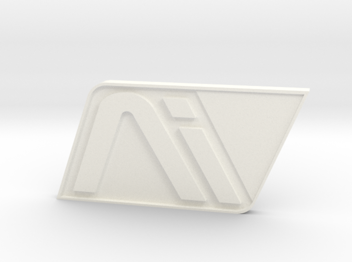 Andromeda White Badge 3d printed