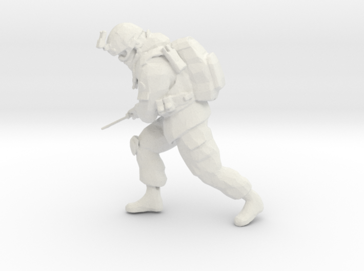 Soldier with knife (Esc: 1/24) 3d printed