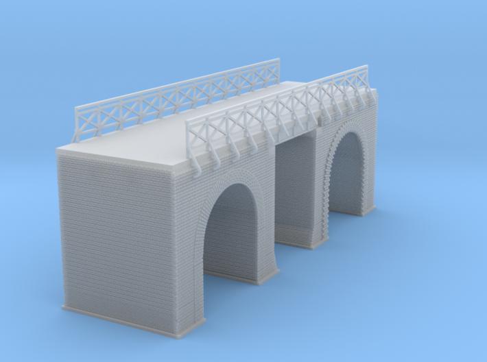 European Arched Bridge Revised 3d printed European Arched Bridge Z scale