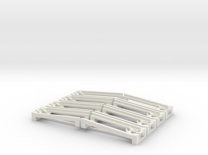 Ablaufschienen für Wasserbomben 3d printed 8 roll off rails
