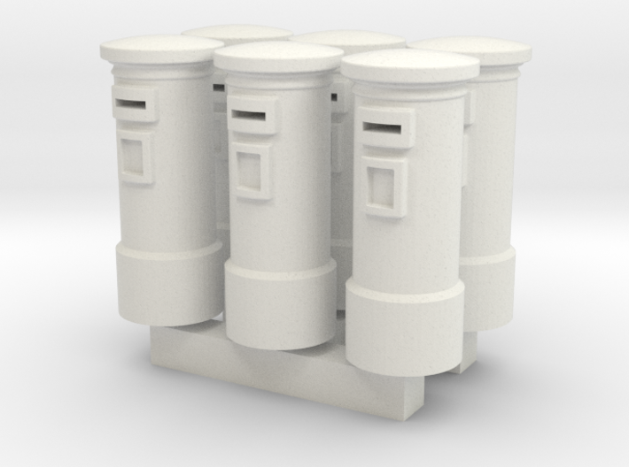 N/OO Scale English Post Box x6 3d printed