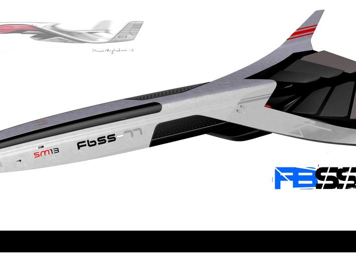 FBSS-3 Concord Spaceship Toy 3d printed Rendering from 3D model