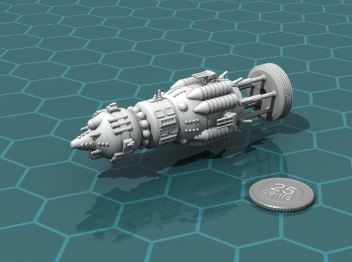 """USSR """"Brute"""" class Battleship 3d printed Render of the model, with a virtual quarter for scale."""