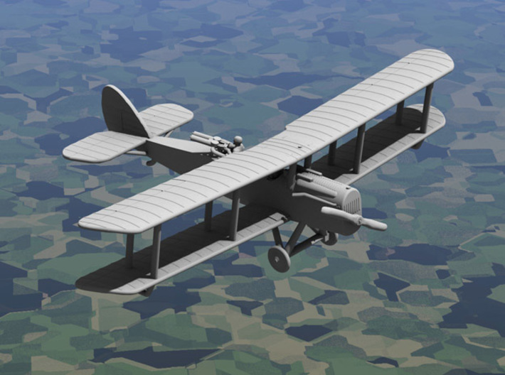Airco D.H.4 (American, various scales) 3d printed Computer render of 1:144 American DH4