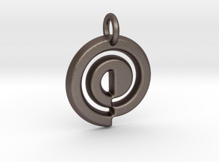 Swirl Keychain 3d printed