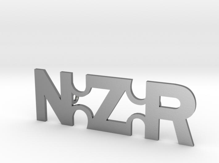 NZR Straight Badge 3d printed