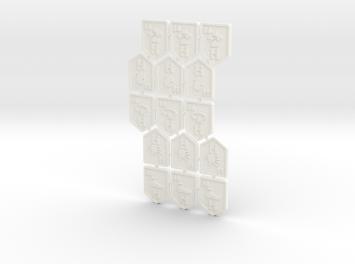 KDM Tokens High-Low (15 pcs) 3d printed