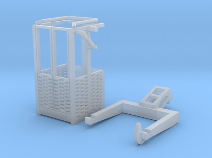 HO/1:87 Man basket for mini crawler crane 3d printed