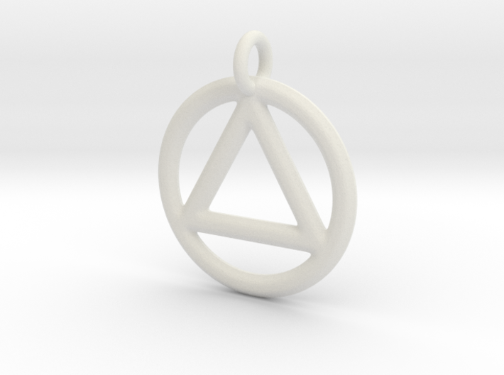 AA Pendant 3d printed