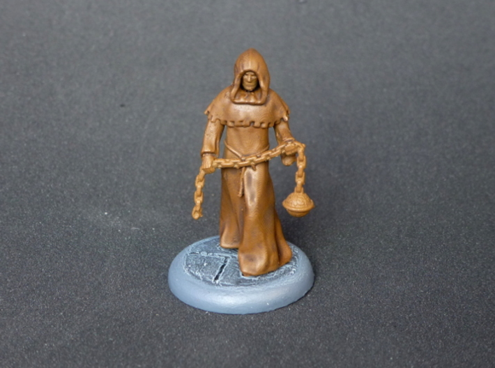 Cleric 3d printed The Cleric miniature with the some shading added to the basecoat