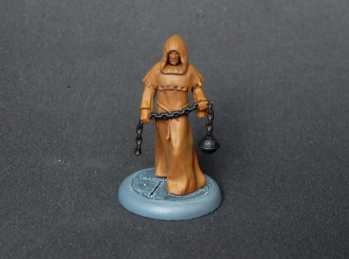 Cleric 3d printed The Cleric miniature with the some highlights and additional colouring