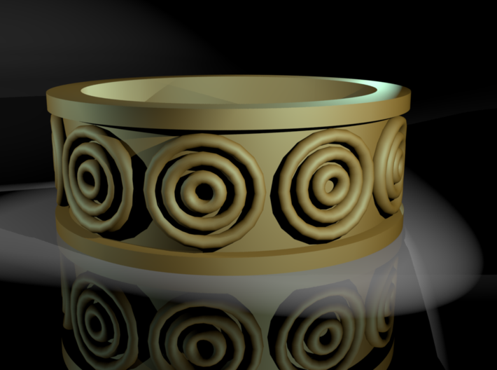 A Ring with Circles on It 3d printed 3D Rendering
