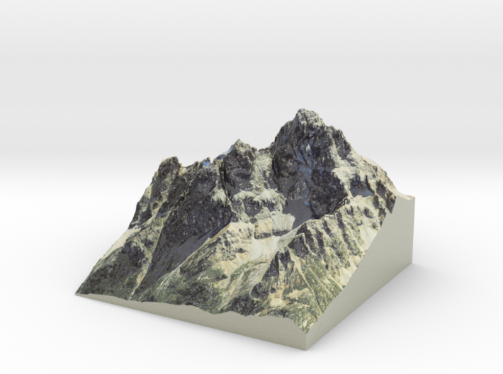 Grand Teton Map, Wyoming (8 in) 3d printed