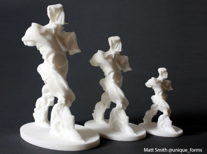 Spiral Expansion of Muscles in Movement - 11.4cm 3d printed 6 inch, 4.5 inch and 3 inch prints