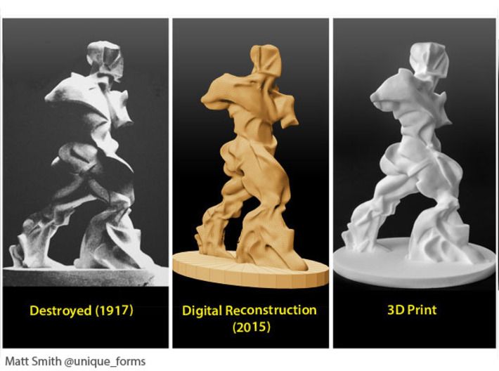 Spiral Expansion of Muscles in Movement - 7.5 cm 3d printed Remaking phases