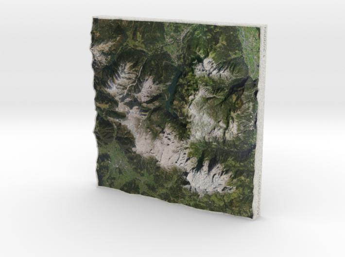 Berchtesgaden Alps, Austria/Germany, 1:250000 3d printed