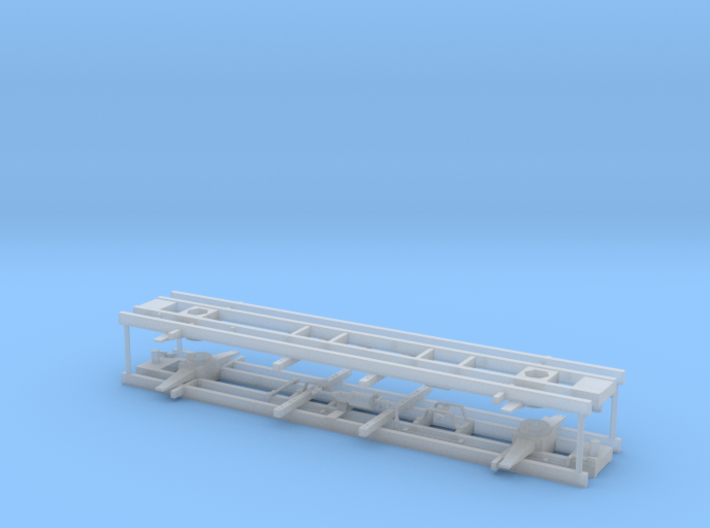 "Basic Flat Car 6"" Needle Beams - Pair 3d printed"