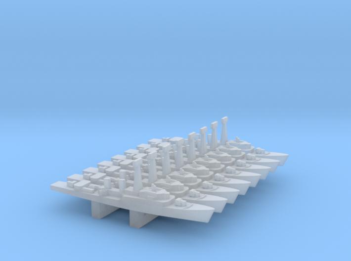 Tribal-class frigate x 8, 1/6000 3d printed