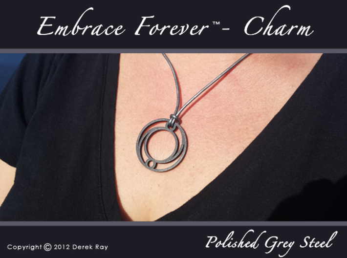 Embrace Forever™ - pendant (stainless steel) 3d printed
