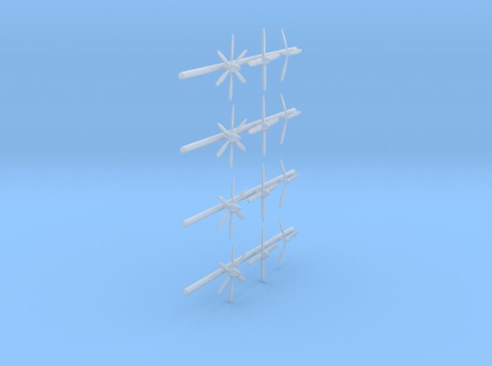 144-H0135: 3 types of Propellers, 20mm diameter 3d printed