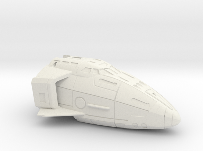 Combat Orbiter Nose Section MK.II One-Piece 3d printed