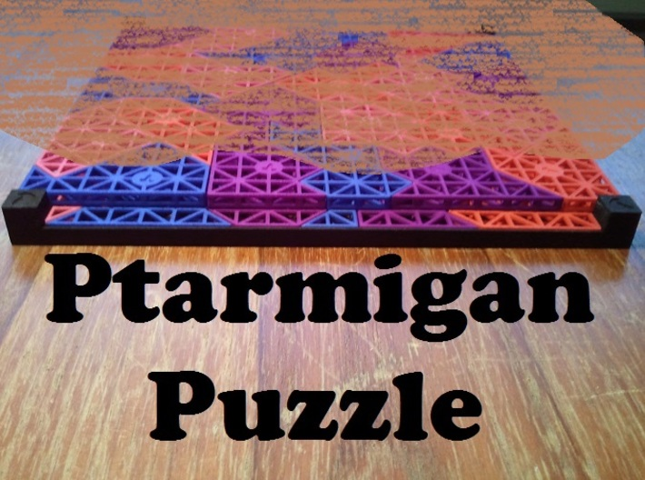 Ptarmigan Puzzle (see description) 3d printed Solution (Don't look too closely!)