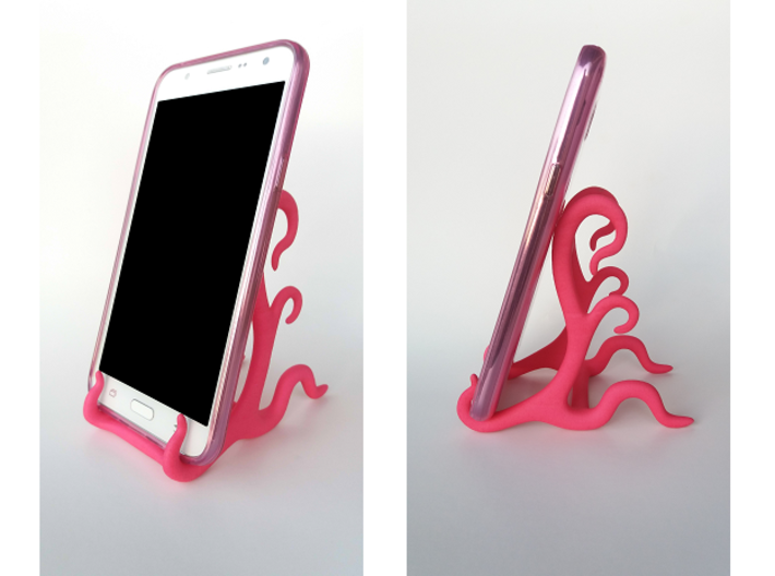 Phone Stand 3d printed Shown with Samsung Galaxy J7. PHONE NOT INCLUDED.