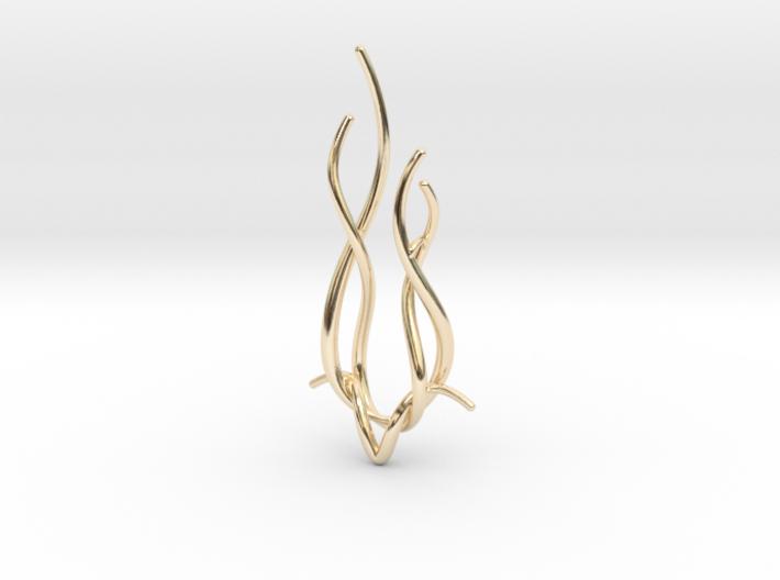Spiral Deer pendant 3d printed