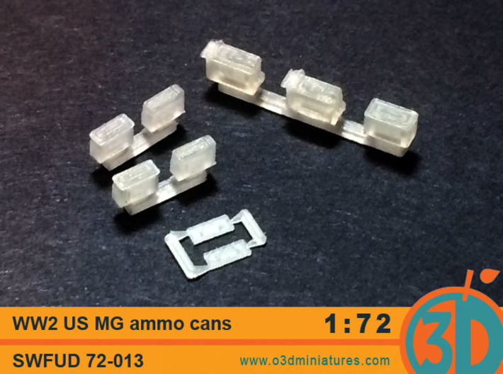 WW2 US MG Ammo Cans 1/72 scale SWFUD 72-013 3d printed FUD test print, actual product will differ slightly