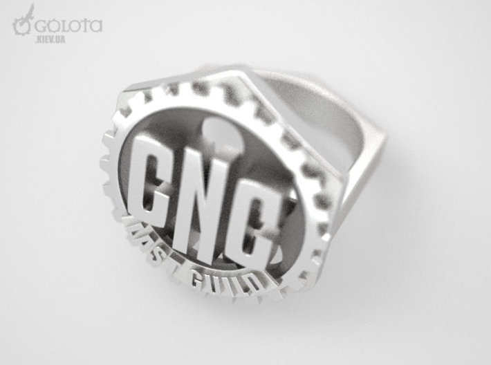 CNC Guild Ring - 9 size 3d printed CNC_guild_ring silver