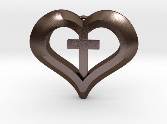 heart cross 3d printed